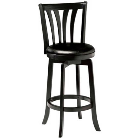 "Hillsdale Savana Black Swivel 26"" High Counter Stool"