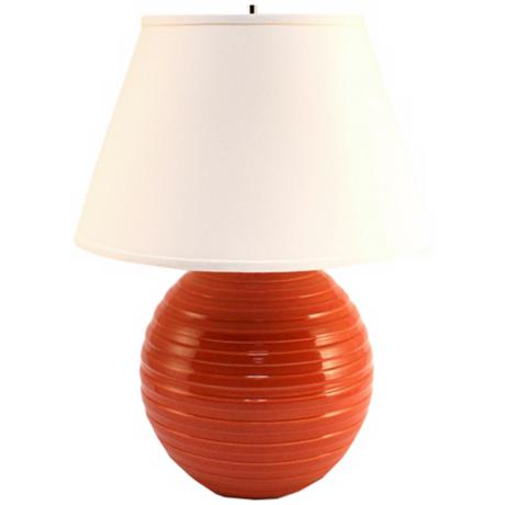 Haeger Potteries Paprika Centrifugal Ceramic Table Lamp