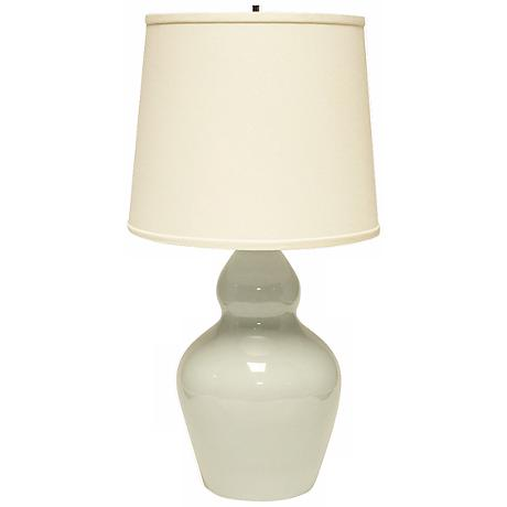 Haeger Potteries Double Gourd Mist Ceramic Table Lamp
