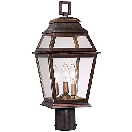 "Crossroads Point 19 1/2"" High Bronze Outdoor Post Light"