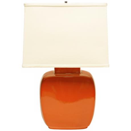 Haeger Potteries Paprika Square Ceramic Table Lamp