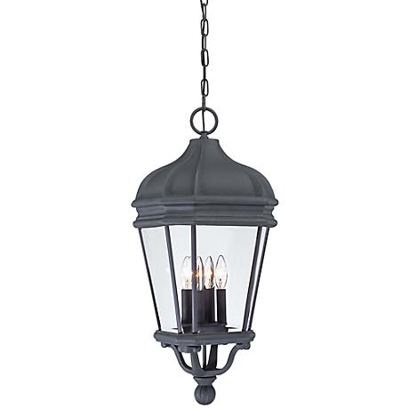 "Harrison 28 3/4"" High Black Hanging Outdoor Light"