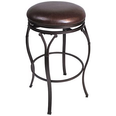 "Hillsdale Lakeview Brown Backless 30"" Bar Stool"