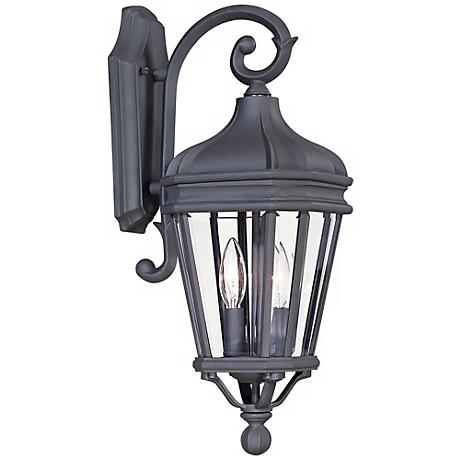 "Harrison 20"" High Vintage Black Outdoor Wall Light"