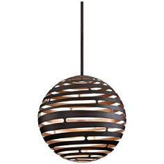 "Tango Textured Bronze 30"" Wide Corbett LED Pendant Light"