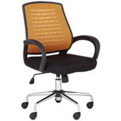Orange Mesh Back Adjustable Office Chair
