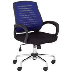 Blue Mesh Back Adjustable Office Chair