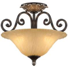 "Traditional Bronze 18 1/4"" Wide Ceiling Light Fixture"