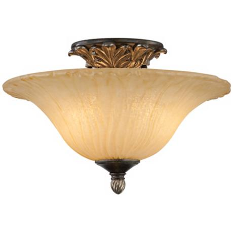 "Traditional 15"" Wide Floating Ceiling Light Fixture"