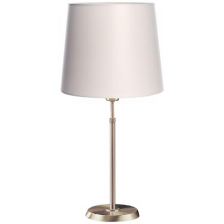 Holtkoetter Satin Nickel Lamp with Satin White Shade