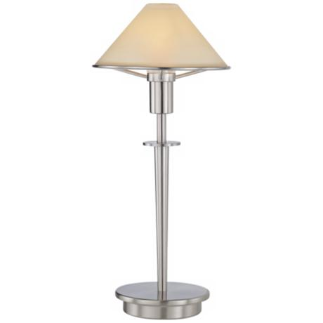 Alabaster Creme and Satin Nickel Mini Holtkoetter Desk Lamp