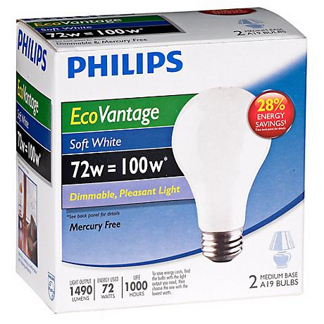 72W Equivalent 100 Watt-1490 Lumens Soft White Halogen Bulbs