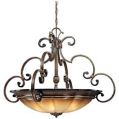 "Brompton 33 1/4"" Wide 4-Light Glass Pendant Chandelier"
