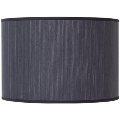 Lights Up! Ebony Wood Veneer Lamp Shade 14x14x10 (Spider)