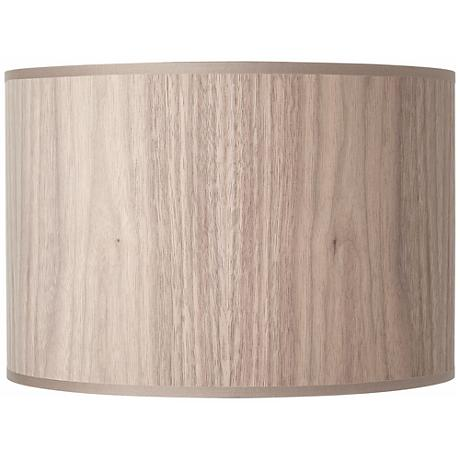 Lights Up! Walnut Wood Veneer Lamp Shade 14x14x10 (Spider)
