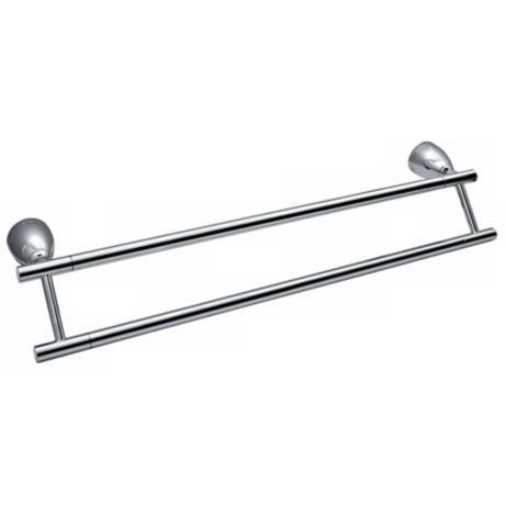 "Gatco Avenue Chrome 24"" Wide Double Towel Bar"