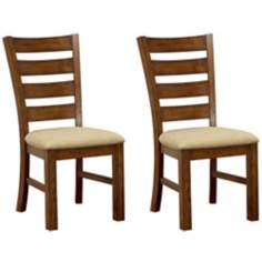 Set of 2 Hempstead Wood Dining Chairs