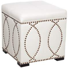 Rouel Faux Leather Vanilla Storage Cube