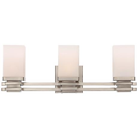 "Bennett Collection Satin Nickel 22"" Wide Bathroom Wall Light"