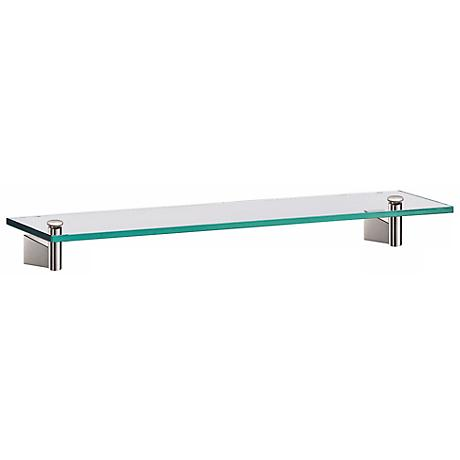 "Gatco Bleu Satin Nickel 20"" Wide Glass Shelf"