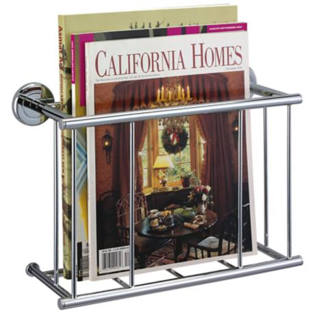 "Gatco Latitude II Chrome 12 1/4"" Wide Magazine Rack"