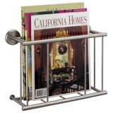 Gatco Latitude II Satin Nickel Wall Magazine Rack