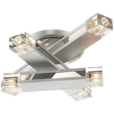 Possini Euro Design Three Stacked Rods Ceiling Light
