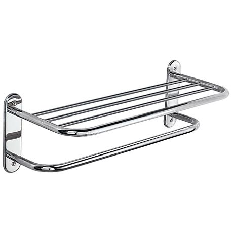 "Gatco Chrome 26 1/2"" Wide Spa Towel Rack with Bar"