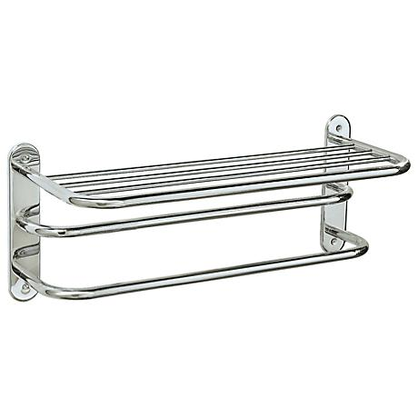 "Gatco Chrome 26 1/2"" Wide 2-Bar Spa Towel Rack"