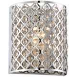 "Possini Glitz Crystal Chrome 8 1/2"" High Pocket Wall Sconce"