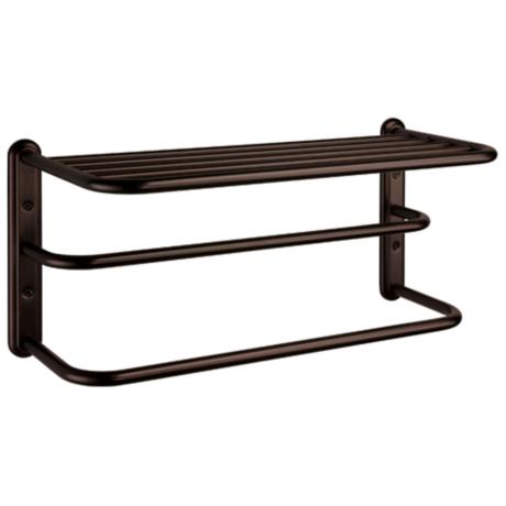 "Gatco Bronze Finish 20"" Wide Spa 2-Bar Towel Rack"