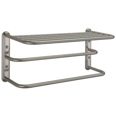"Gatco Satin Nickel 20"" Wide Spa 2-Bar Towel Rack"