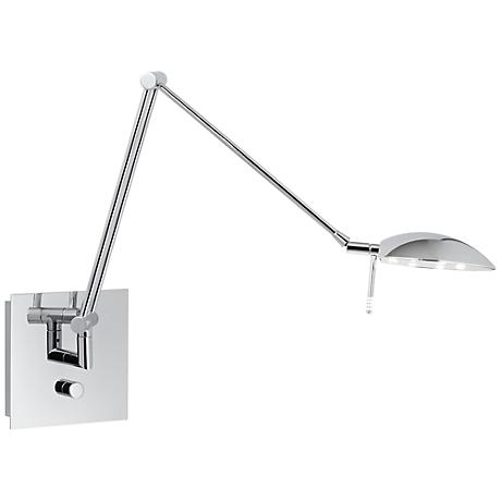 "Holtkoetter Bernie Turbo 29"" Chrome LED Swing Arm Wall Lamp"