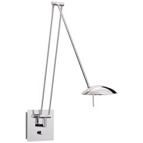 "Holtkoetter Bernie Turbo 49"" Chrome LED Swing Arm Wall Lamp"