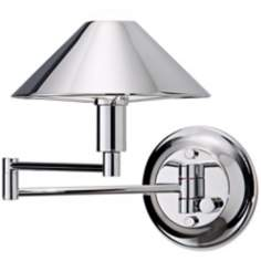 Holtkoetter Chrome Finish Swing Arm Wall Lamp