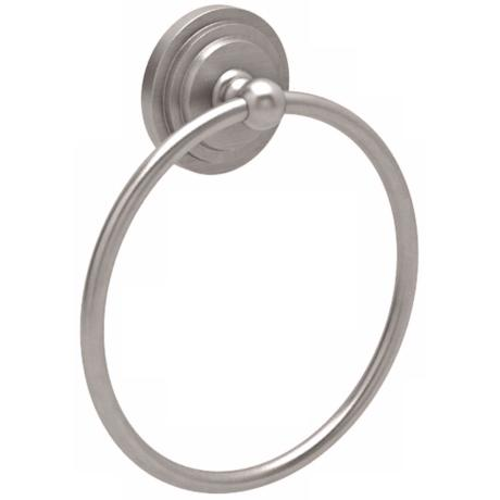 "Gatco Marina 7 3/4"" High Satin Nickel Towel Ring"