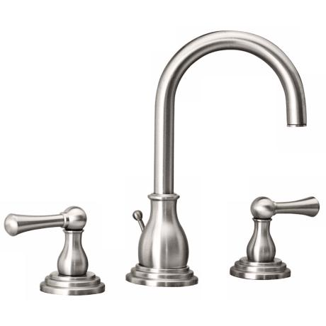 "Gatco Marina 8"" Wide Satin Nickel Bathroom Faucet"
