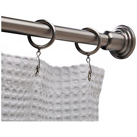 Set of 2 Gatco Marina Satin Nickel Shower Rod Ends