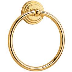 "Gatco Marina 7 3/4"" High Solid Brass Towel Ring"