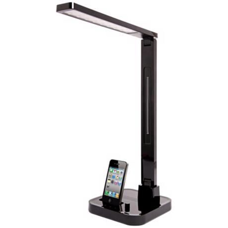 Softech Black LED Desk Lamp with iPod/iPhone Dock