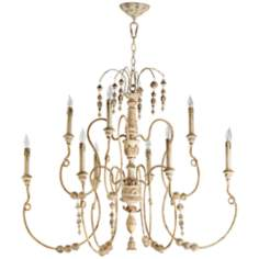 "Quorum Salento 9-Light 40 1/2"" Wide Persian White Chandelier"