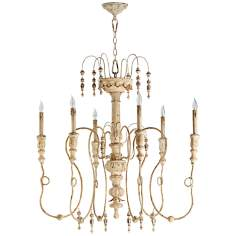 "Quorum Salento 6-Light 39 1/4"" Wide Persian White Chandelier"