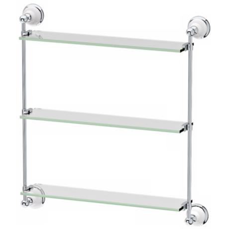 "Gatco Franciscan Premier Chrome 25 1/4"" High Wall Shelf"
