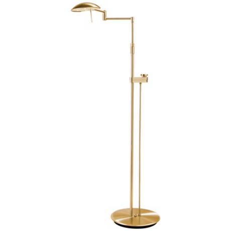 Brushed Brass Bernie Series LED Holtkoetter Floor Lamp
