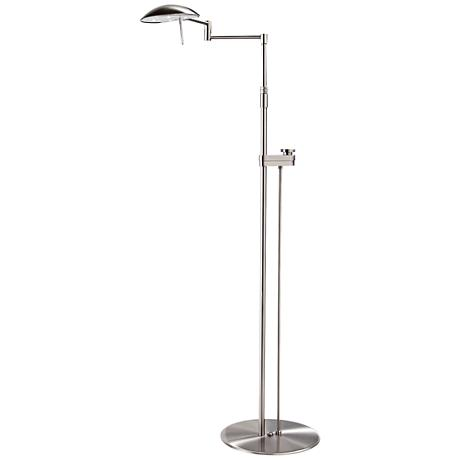 Satin Nickel Bernie Series LED Holtkoetter Floor Lamp