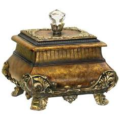 Antique Gold Finish Wilton Box