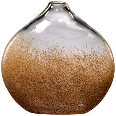 Russet and Gold Dust Glass Vase