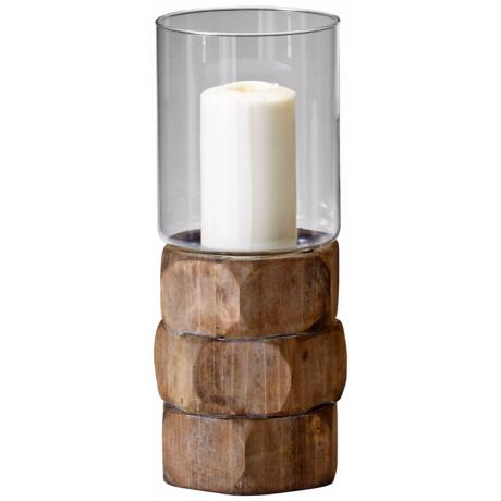 Medium Hex Nut Natural Wood Candle Holder