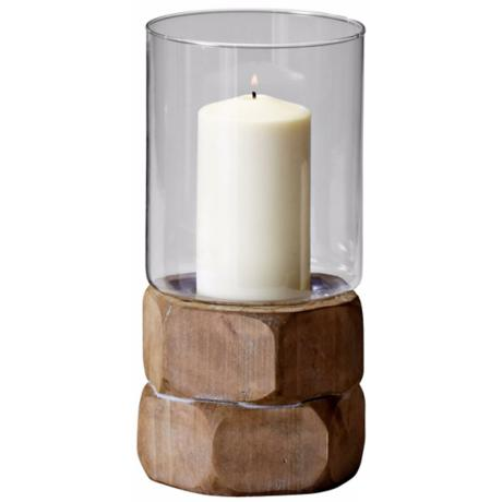 Small Hex Nut Natural Wood Candle Holder