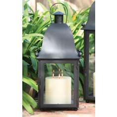San Juan Lantern With Black Hand-Forged Iron Finish